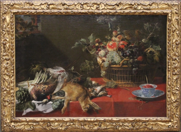 "Frans Snyders, ""Still-Life with Fruit Basket and Game"" (ca. 1620), Gemäldegalerie, Berlin"