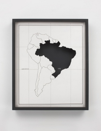 Anna Maria Maiolino — Anna Maria Maiolino, 1974—2008 India ink and Letraset on paper in wooden box with glass 51 x 42 x 6 cm