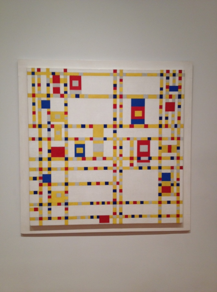 Piet Mondrian, Broadway Boogie Woogie, 1942-43, oil on canvas