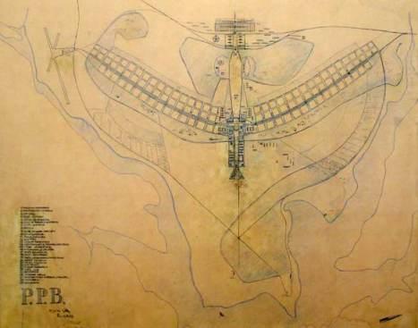 """Lúcio Costa, """"Plano Piloto Brasilia,"""" 1956"""