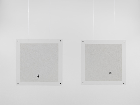 Mira Schendel — Untitled, 1970 China ink and letra set on rice paper 23 x 23 cm / 9 x 9 in 27.9 x 27.9 x 0.6 cm / 11 x 11 x 1/4 in (framed) each